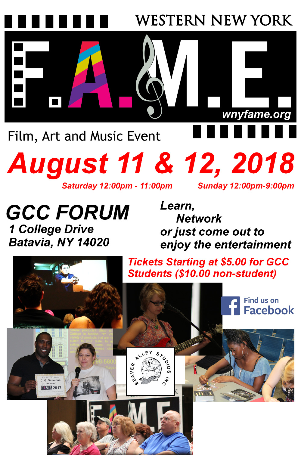 WNY FAME AUGUST 11 and 12, 2018